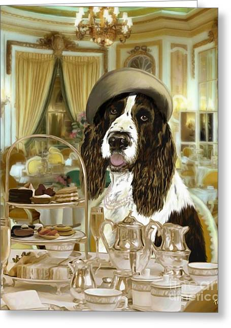 High Tea At The Ritz Greeting Card
