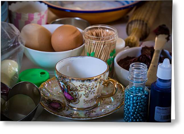 High Tea's Provenance Series Number Two Greeting Card by Kaleidoscopik Photography