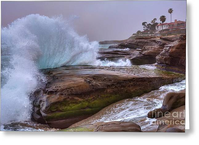 High Tide At Windansea Beach Greeting Card by Eddie Yerkish