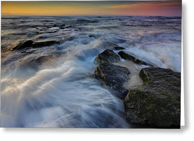 High Tide Greeting Card by Rick Berk