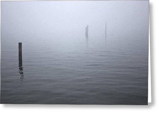 High Tide Sentinels Greeting Card by Stephen Prestek