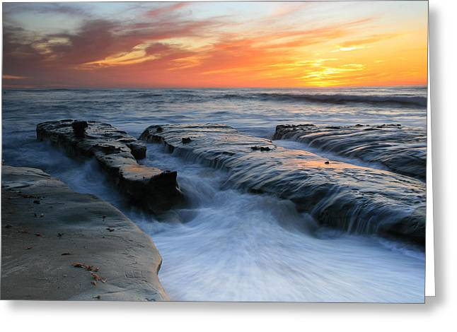 High Tide Sunset 2 Greeting Card