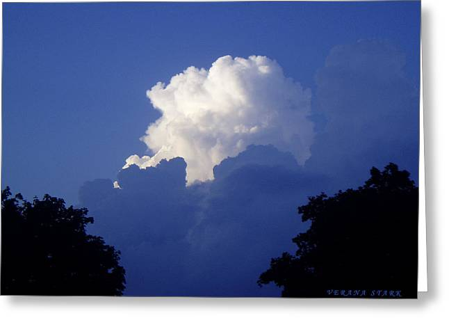 High Towering Clouds Greeting Card