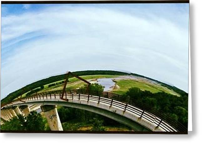 High Trestle Bridge Greeting Card by Garren Zanker