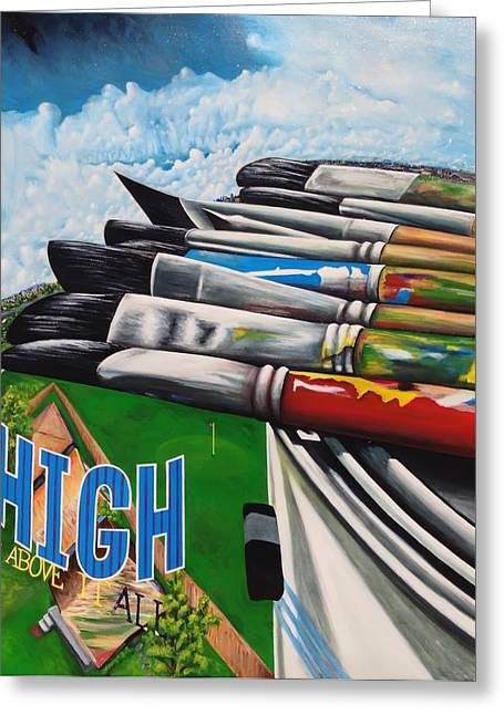 High Up Above It All Greeting Card by Randy Segura