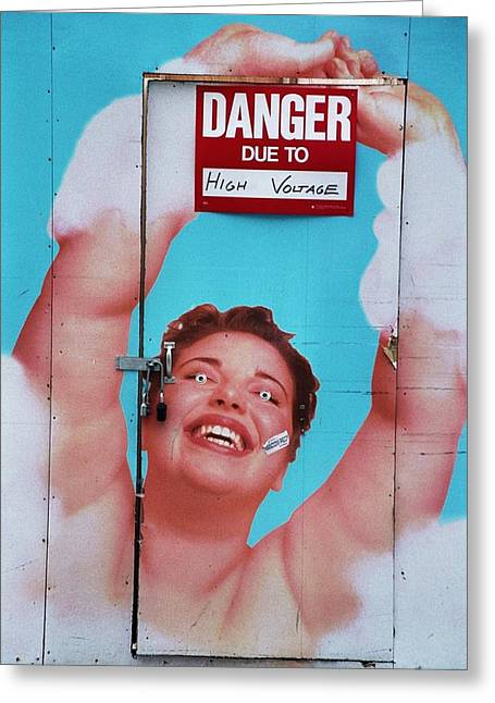 High Voltage Greeting Card by Allen Beatty
