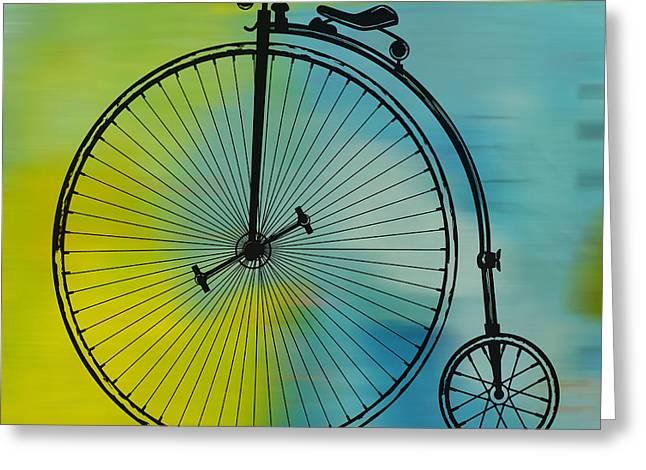 High Wheel Bicycle Greeting Card