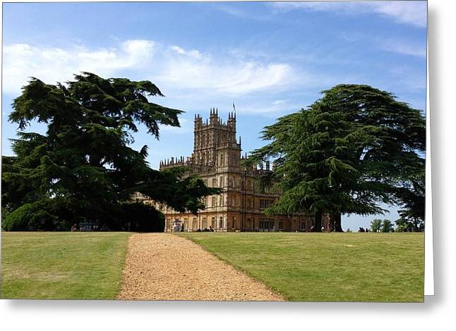 Highclere Castle Or Downton Abbey Greeting Card