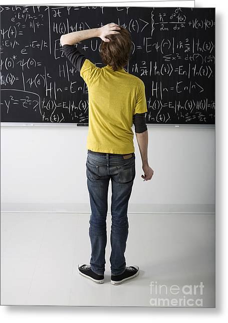 Higher Math Greeting Card by Diane Diederich