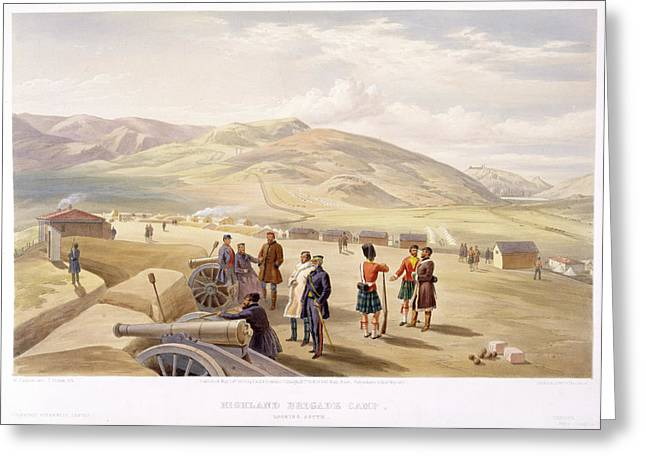 Highland Brigade Camp Greeting Card by British Library