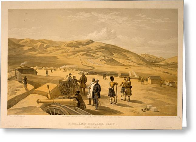 Highland Brigade Camp, Looking South  W. Simpson Greeting Card