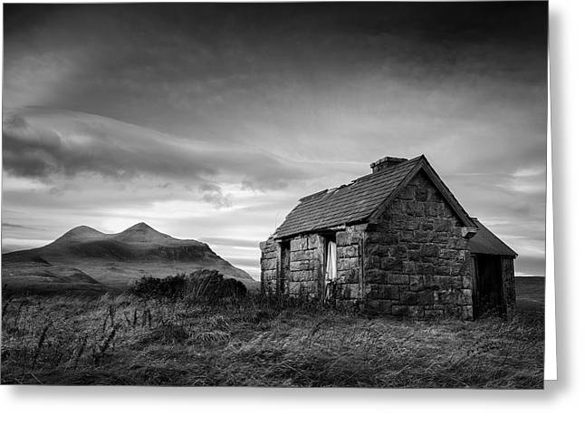 Highland Cottage 2 Greeting Card by Dave Bowman