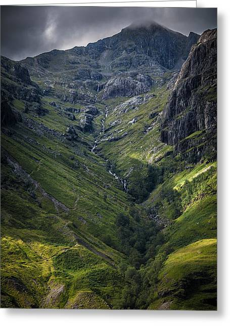 Highland Crevasse Greeting Card