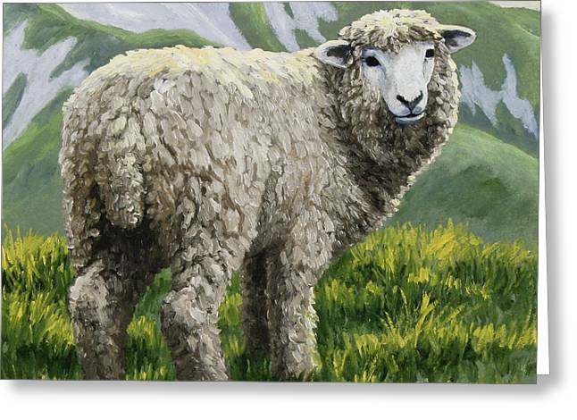 Highland Ewe Greeting Card by Crista Forest