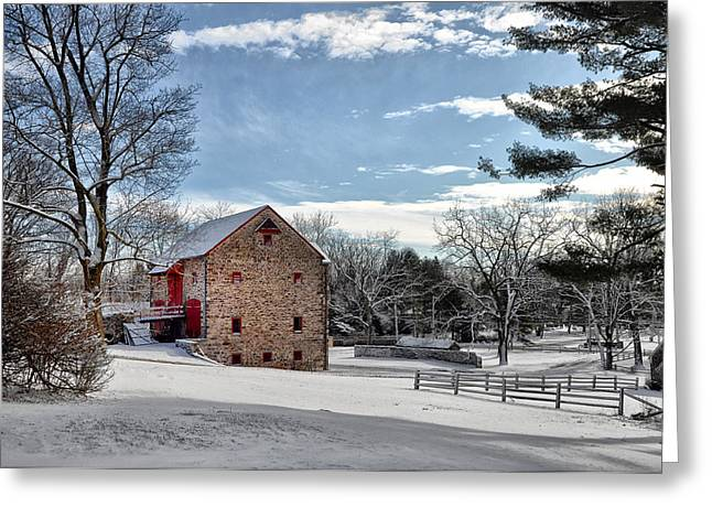 Highland Farms In The Snow Greeting Card by Bill Cannon