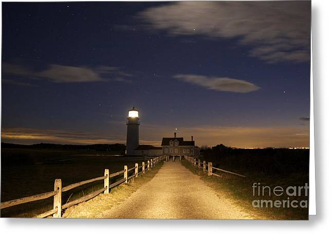 Highland Light North Truro Greeting Card by Amazing Jules