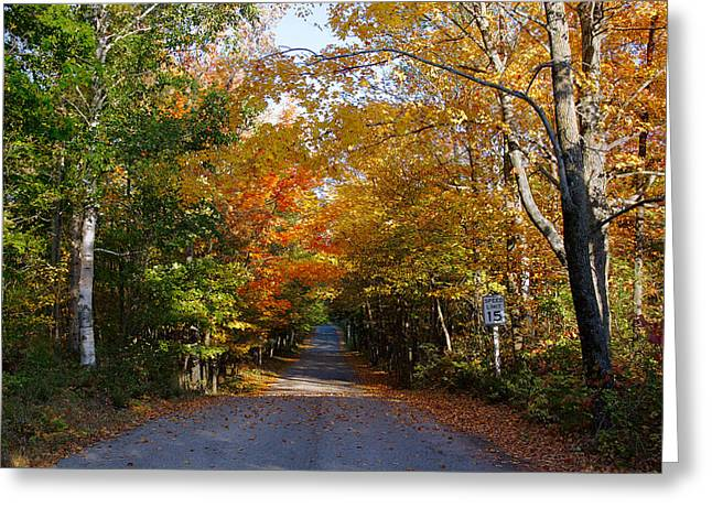 Greeting Card featuring the photograph Highland Road by Chuck De La Rosa