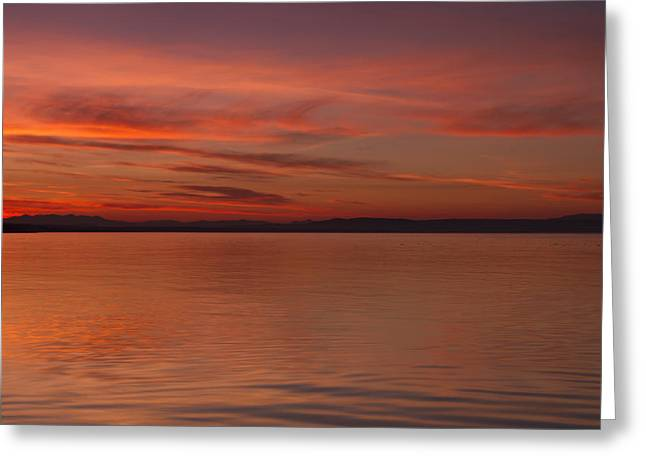 Highland Sunset Greeting Card by Karl Normington