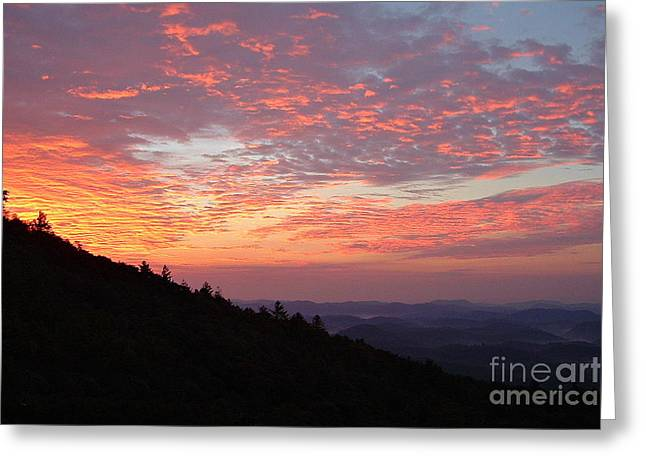 Highlands North Carolina Sunrise In The Great Smokey Mountains 2 Greeting Card by Reid Callaway