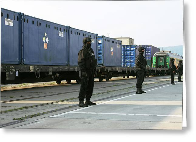 Highly Enriched Uranium Train Greeting Card by National Nuclear Security Administration