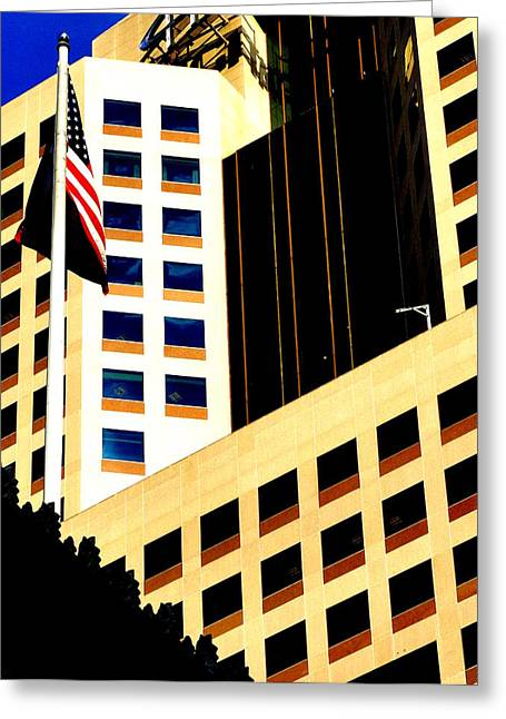 Greeting Card featuring the photograph Highmark by Mary Beth Landis