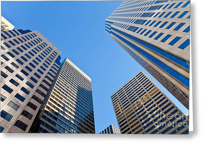 Greeting Card featuring the photograph Highrises by Jonathan Nguyen