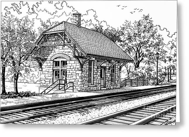 Highlands Train Station Greeting Card