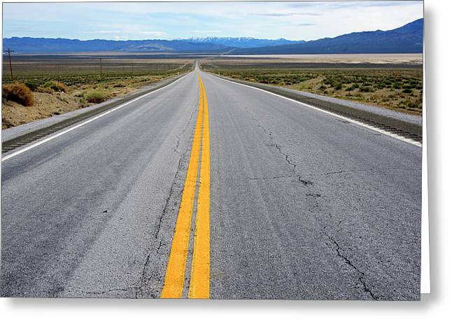Highway 50, The Loneliest Road Greeting Card by Richard Wright