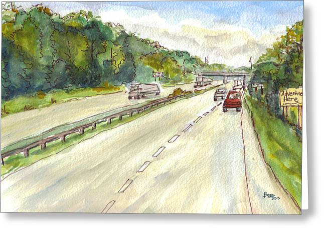 Highway 95 Greeting Card
