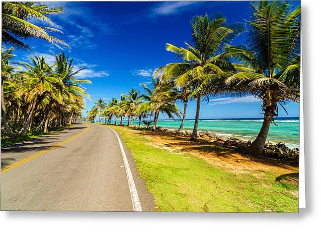 Highway And Coast Greeting Card by Jess Kraft