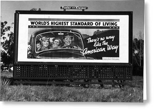 Highway Billboard, 1937 Greeting Card by Granger