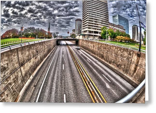 Greeting Card featuring the photograph Highway Into St. Louis by Deborah Klubertanz