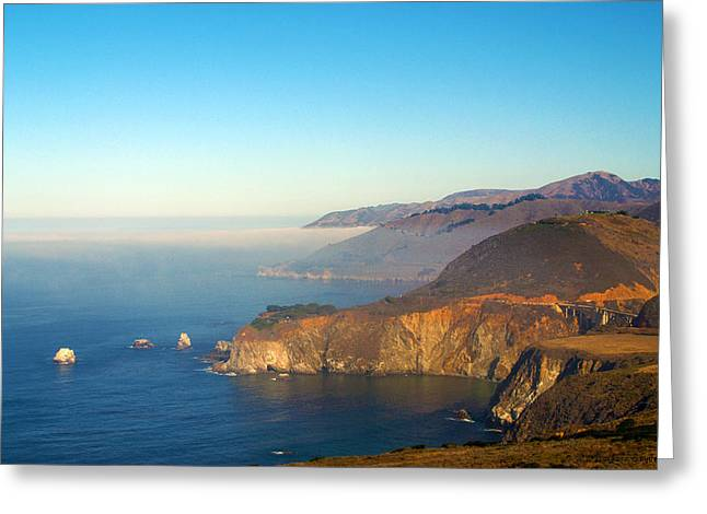 Highway One Bixby Bridge Greeting Card by Barbara Snyder