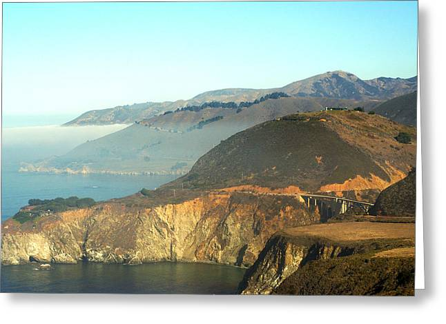 Highway One Bixby Bridge Close Greeting Card by Barbara Snyder