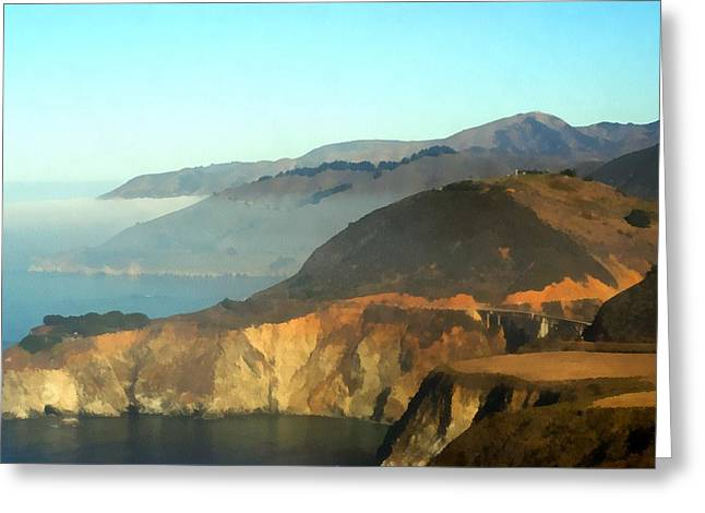 Highway One Bixby Bridge Watercolor Greeting Card