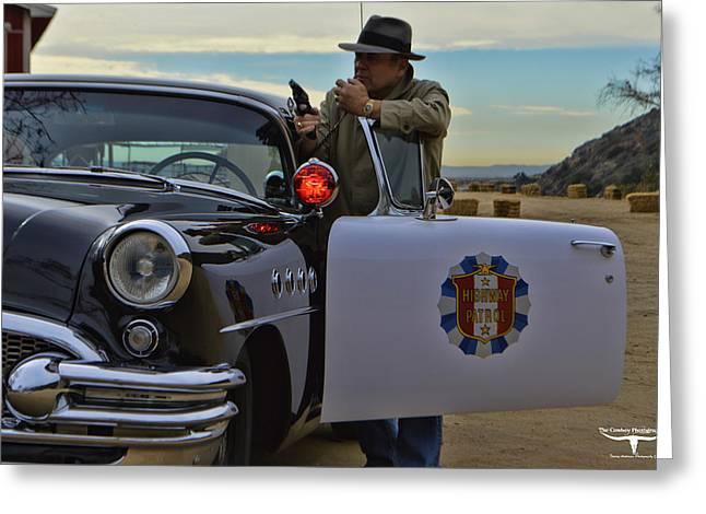 Highway Patrol 6 Greeting Card by Tommy Anderson