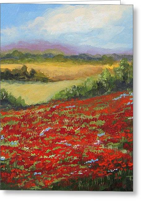 Highway Poppies  Greeting Card