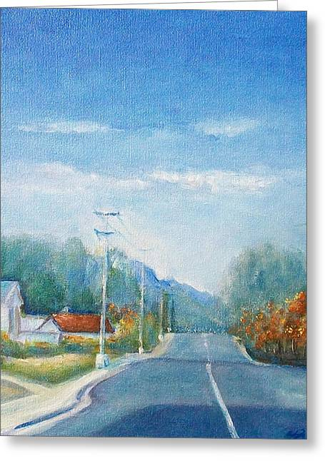 Greeting Card featuring the painting Highway To Heaven by Jane  See