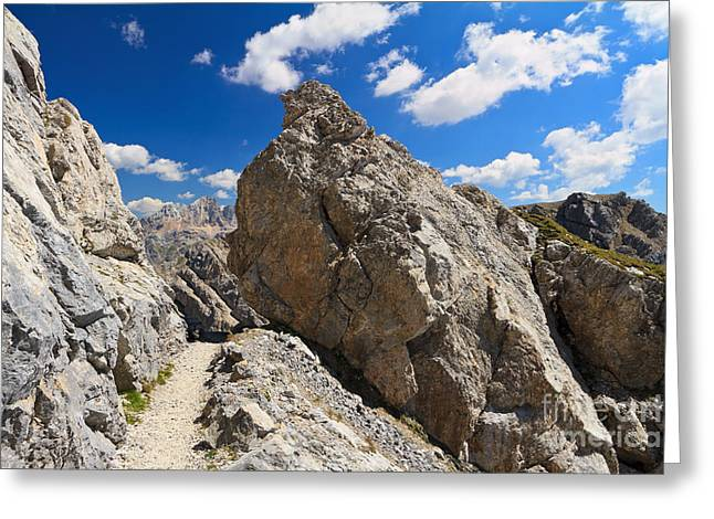 hike in Dolomites Greeting Card by Antonio Scarpi