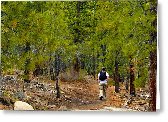 Hike On 2 Greeting Card by Brent Dolliver
