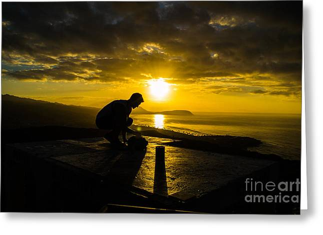 Hiker @ Diamondhead Greeting Card