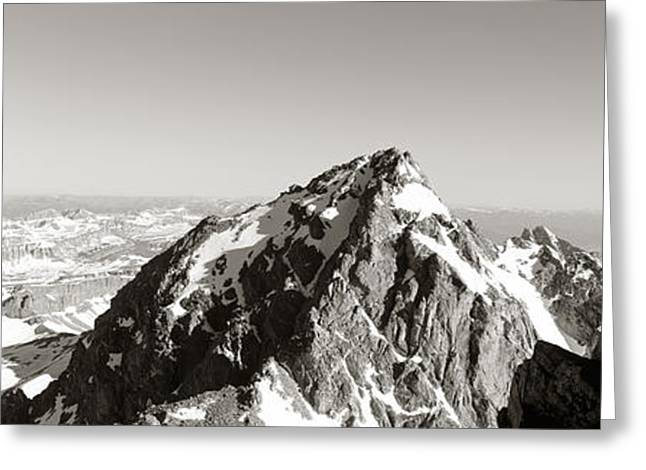 Hiker, Grand Teton Park, Wyoming, Usa Greeting Card by Panoramic Images