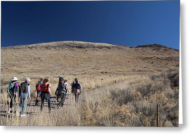 Hikers With Babies Greeting Card by Jim West