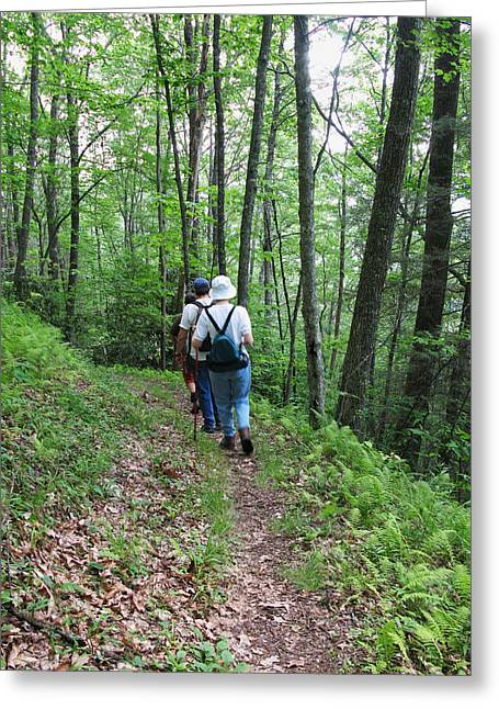 Hiking Group Greeting Card by Melinda Fawver