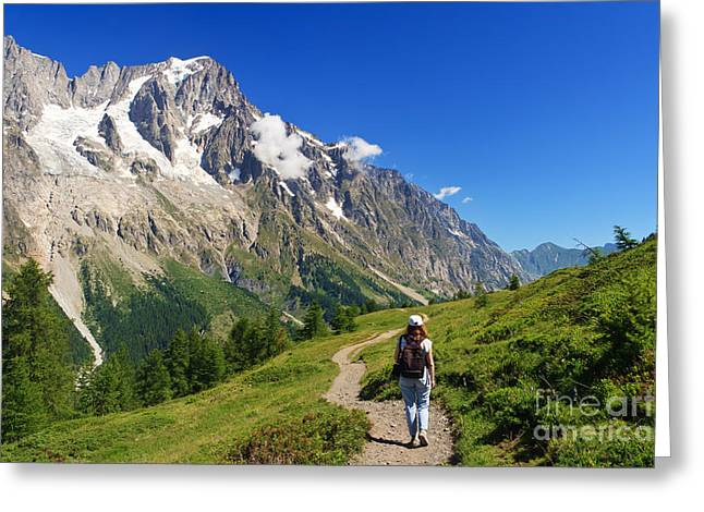 hiking in Ferret Valley Greeting Card by Antonio Scarpi