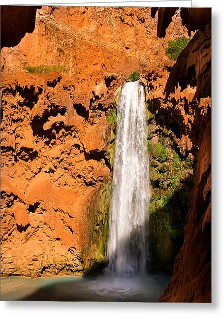 Hiking Mooney Falls Greeting Card by Michael J Bauer