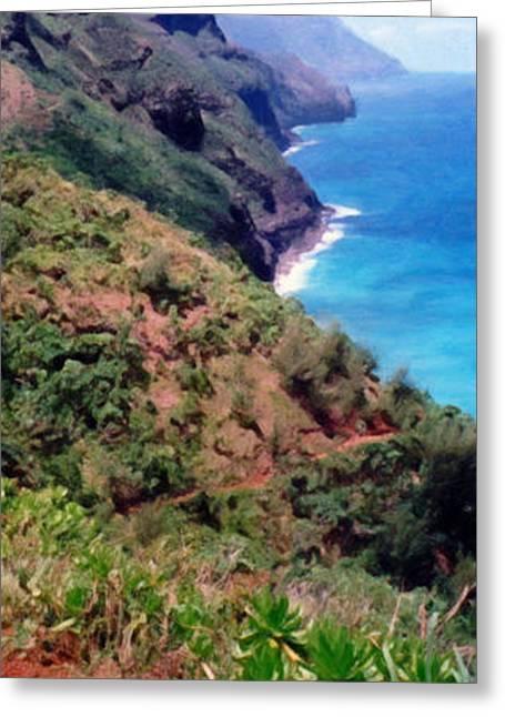 Trail To Kalalau Greeting Card