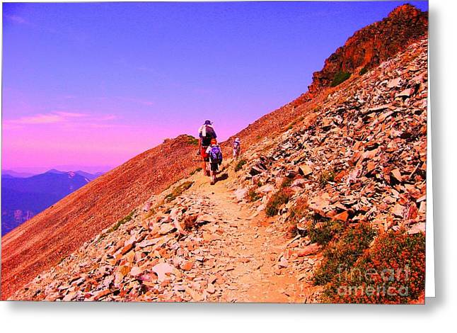 Hiking To Paradise Greeting Card