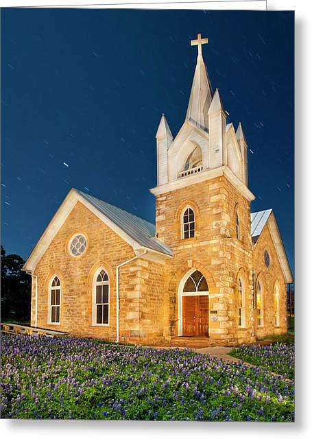 Hilda Methodist Church From 1862 Greeting Card by Larry Ditto