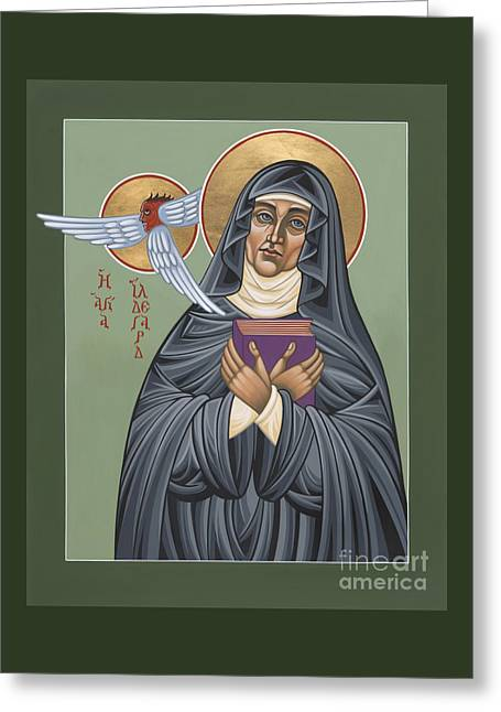Greeting Card featuring the painting St. Hildegard Of Bingen 171 by William Hart McNichols